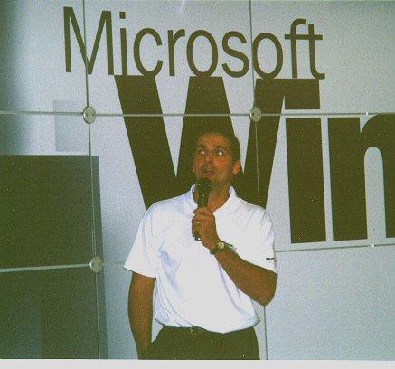 Speaker auf der Orbit in Basel 1994 Windows 95 Beta