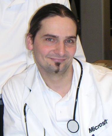 CeBit 2004 als Dr. Windows