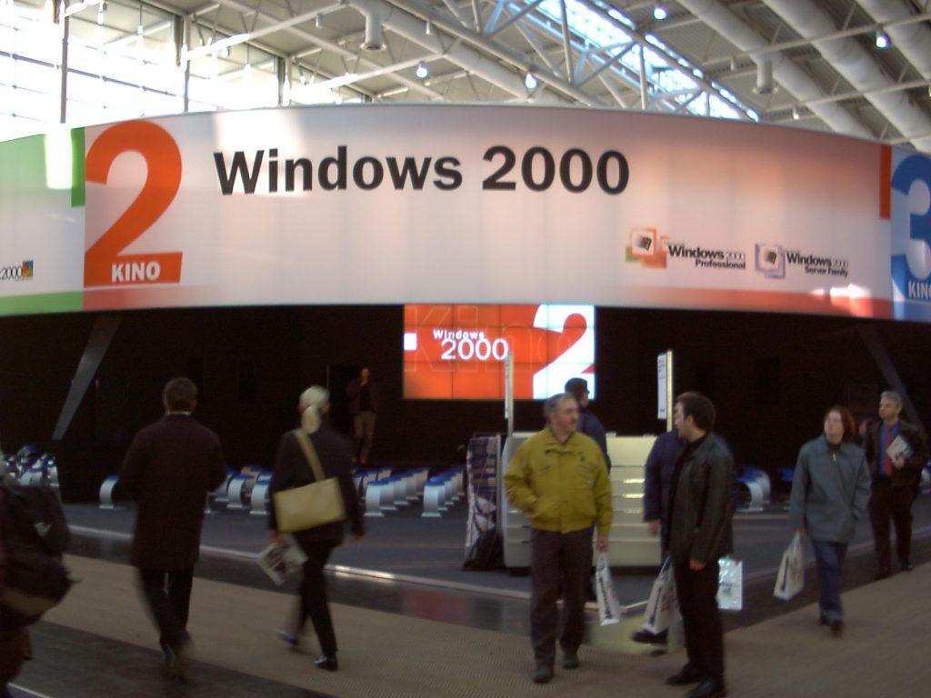Speaker CeBIT 2000 Microsoft Windows 2000 Thema Netzwerke